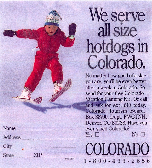 d4 colorado tourism hotdog